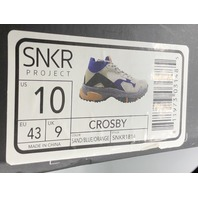 SNKR PROJECT CROSBY SAND/BLUE/ORANGE MENS SNEAKER SIZE US MENS 10 EU 43