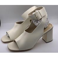 JUSTFAB TISHA PEEP TOE DRESS HEELED SANDAL BONE/WHITE SIZE US WOMENS 11