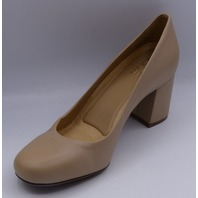 NATURALIZER WHITNEY TAUPE LEA US WOMEN 7M EU 37 PUMPS