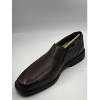 BOSTONIAN BOLTON FREE BROWN LEATHER DRESS SLIP-ON LOAFERS SIZE US MENS 8 EU 41