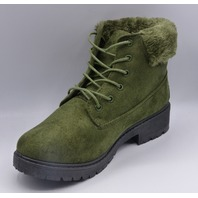 REBEL LV-19-1004 OLIVE US WOMEN 7 ANKLE BOOTS