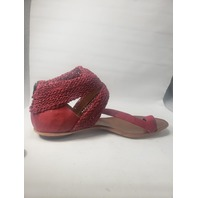 CYDWOQ SUNDANCE TURRET SANDALS SIZE 40 RED