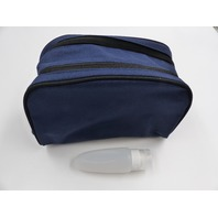AVESTON TRAVEL TOILETRY BAG DOPP KIT WITH SILICONE TRAVEL BOTTLE BLUE MENS