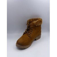 MODERN REBEL LV-19-1004 COGNAC US WOMEN 7.5 COMBAT BOOT