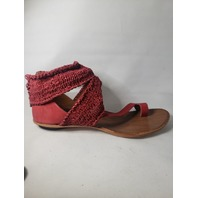 CYDWOQ SUNDANCE TURRET SANDALS SIZE 39 RED