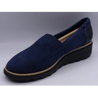 CLARKS SHARON DOLLY NAVY SUEDE US WOMEN 6M EU 36 LOAFER SHOE