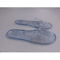 ASOS DESIGN WIDE FIT FERN JELLY SLIDERS IN CLEAR WOMENS SIZE 10