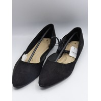TIME AND TRU POINTED BLACK US WOMEN 8 FLATS