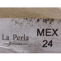 LA PERLA MEXICANA TAN SLIP ON SHOES WOMENS SIZE 24