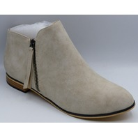 WOMENS ANKLE BOOTS KHAKI US WOMEN 9 ZIP UP SIDE LOW HEEL ANKLE BOOT