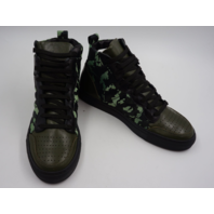 LOOGA RETRO BASKETBALL SHOES CAMO-BLACK BY HUGUES NAZIRE ZL7827 WOMENS SIZE 9