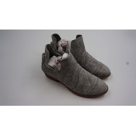 OIL JOIMALL PERFORATED BOHO BOOTIES GREY WOMENS SIZE 8