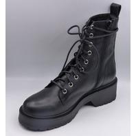 STEVE MADDEN TORNADO BLACK US WOMEN 7.5 COMBAT BOOTS