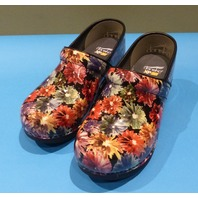 DANSKO XP 2.0 PATENT FLOWERY US WOMEN 8 EU 39 CLOGS
