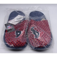 FOREVER COLLECTIBLE HOUSTAN TEXAN THEMED LARGE US MEN 11-12 SLIPPERS