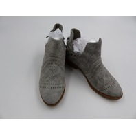 OIL JOIMALL PERFORATED BOHO BOOTIES GREY WOMENS SIZE 7