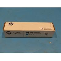 HP 981YC 1PL0R17YC CYAN PAGEWIDE CARTRIDGE GENUINE