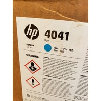 HP 4041 DYE INK CYAN B3F28A 10L 2.5 GALLONS USE FOR C800 M800 PRINTER MODULES