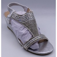 GC SHOES JANICE SILVER US WOMEN 9 WEDGE SANDALS