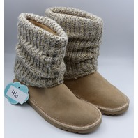 SO GEMMA TAUPE US GIRLS 4M MEMORY FOAM SWEATER BOOTS