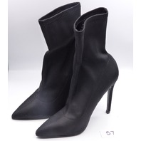 BLACK WOMENS US 7 ANKLE HIGH HEELS