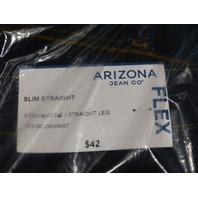 ARIZONA DARK RINSE SLIM STRAIGHT 32 X 34 FLEX JEANS