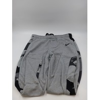 NIKE STANDARD FIT DRI FIT GREY CAMO MENS LARGE TAPERED TRAINING PANTS