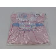 LITTLE ENGLISH PINK/BLUE BUNNY RYAN DRESS GIRLS 18M DRESS