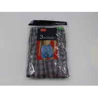 RODEX 2001 3 PACK BOXERS PLAID MENS SMALL 28-30 BOXERS