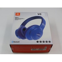 JBL E55BT BLUE WIRELESS OVER-EAR HEADPHONES