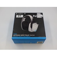 LOGITECH G933 ARTEMIS SPECTRUM SNOW WIRELESS  GAMING HEADSET