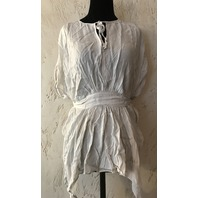ALLSAINTS WOMENS BLOUSE NEVIS TOP IN OYSTER WHITE UK 10/US 6 $178 RETAIL