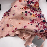NORDSTROM PINK FLOWER VINE SCARF