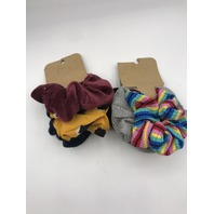 LOT OF 2 THREE PIECE ASSORTED BERRY SCRUNCHIES