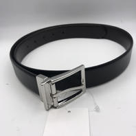 NORDSTROM RALPH LAUREN GENUINE LEATHER BLACK/SILVER BELT