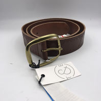 NORDSTROM TREASURE & BOND GENUINE LEATHER COGNAC IMPRINTED BELT SIZE L