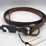 NORDSTROM MELROSE AND MARKET WOMEN'S BUCKLES LEATHER CUIR HIP BROWN BELT SIZE L