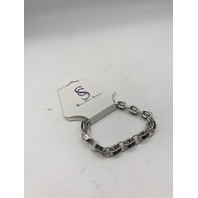 NORDSTROM SAVVY CIE JEWELS BLACK AND SILVER CHAIN BRACELET
