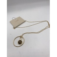 NORDSTROM 14TH AND UNION BROWN EYE CIRCLE LONG NECKLACE