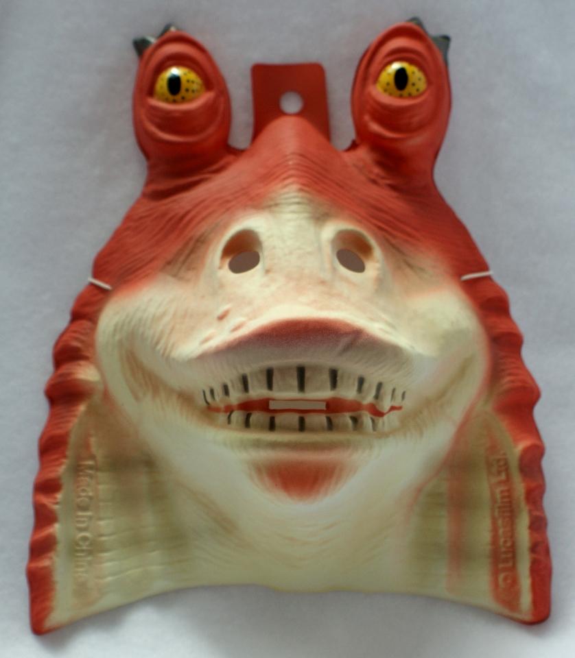 Star Wars Jar Jar Binks Halloween Mask Rubies PVC Comic ...