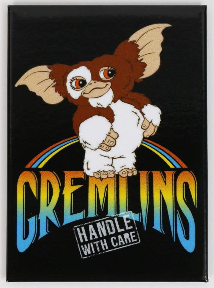Gizmo Gremlins Handle With Care Refrigerator FRIDGE MAGNET 1980's  J31 SD3840