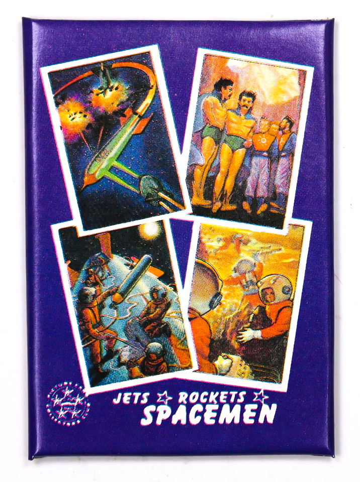 Jets Rockets and Spacemen Vintage Trading Cards ONE Wax Pack 1986 Sci-fi Aliens