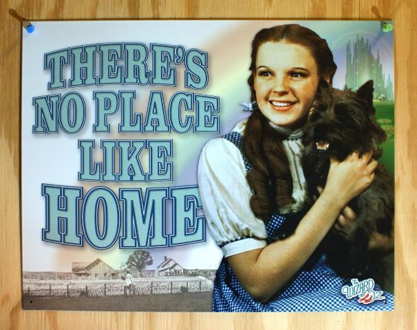 Wizard Of Oz No Place Like Home Tin Sign Movie Poster Dorothy Toto Kansas F25