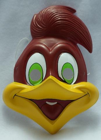Vintage Woody Woodpecker Halloween Mask Rubies Costume Mel Blanc Universal Y080