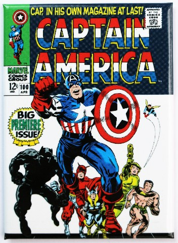 Captain America No. 1 FRIDGE MAGNET Marvel Comics Super ...