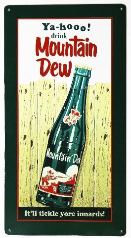 Yahoo Drink Mountain Dew Metal Sign Soda Cola Pop Coke ...