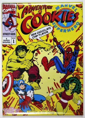 Marvel Super Hero Adventure Cookies FRIDGE MAGNET ...