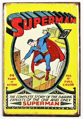 Superman FRIDGE MAGNET Vintage Style Comic Book DC Comics ...