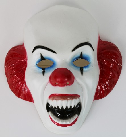 It Pennywise Clown Halloween Mask Stephen King Horror Movie Monster Rare