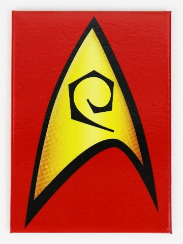 Star Trek Red Communicator Badge Logo Refrigerator FRIDGE MAGNET Spock TV Movie H17